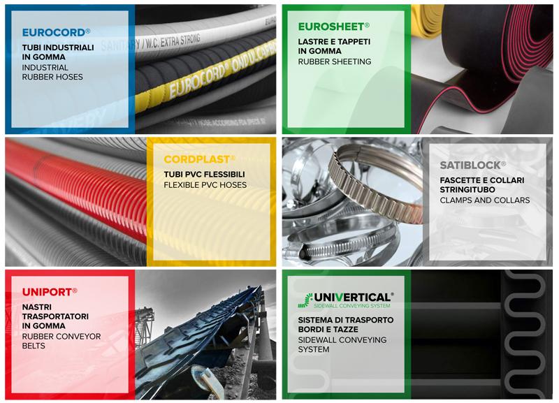 Produzione nastri trasportatori, tubi industriali e tappeti in gomma
