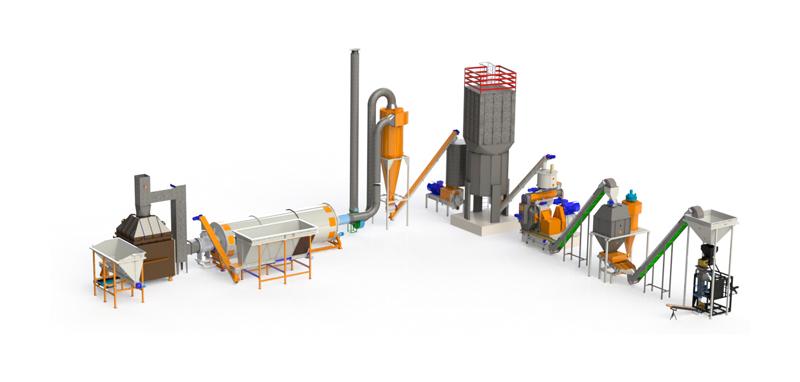 Impianto completo per produzione pellet