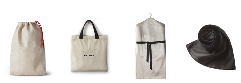 Fabric pouches and fabric carrier bags