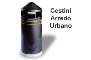 Cestini portarifiuti per raccolta differenziata a u esse for Cestini portarifiuti arredo urbano prezzi