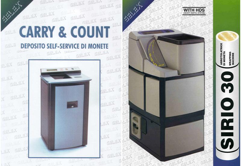 Conta e avvolgi monete Carry&Count e Sirio30