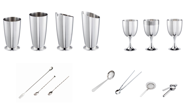 Accessori per bartender in acciaio inox