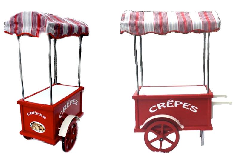 Carretti per vendita crepes