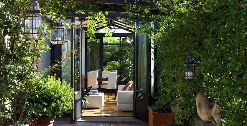 Realizzazione giardini d 39 inverno e verande atelier italia - Arredare giardino d inverno ...