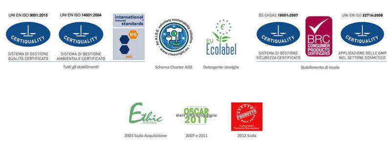 Certificazioni Deco Detergenza