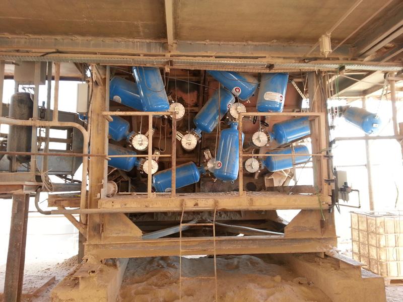 Impianti cannoni aria compressa