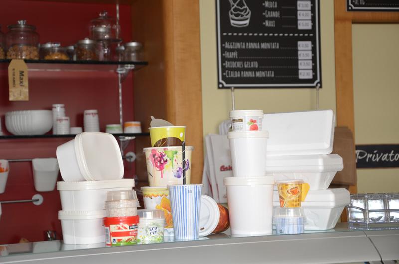 Contenitori per asporto e delivery settore gelateria