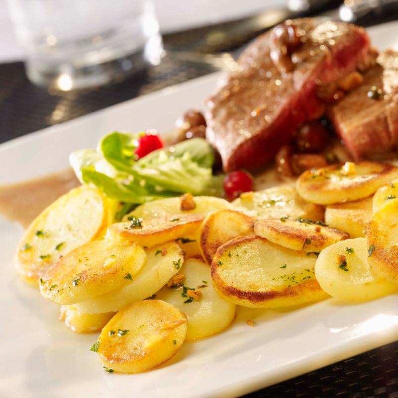 Fette di patate al naturale
