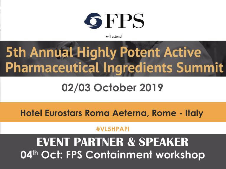 FPS sarà presente all'annuale appuntamento sul mondo degli HPAPI a Roma