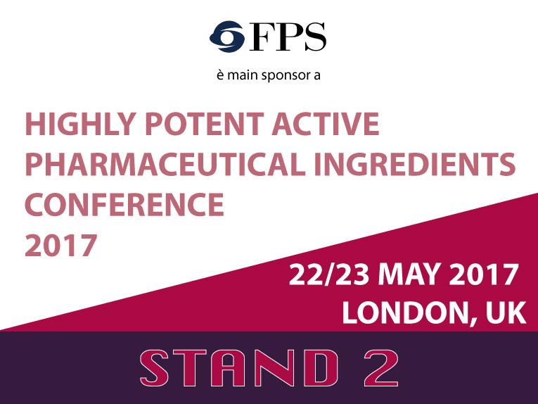 FPS, main sponsor di HPAPI, della prima conferenza sui prodotti altamente attivi