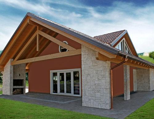 Abitazioni residenziali in legno lamellare naturalmente casa - Ampliare casa con struttura in legno ...
