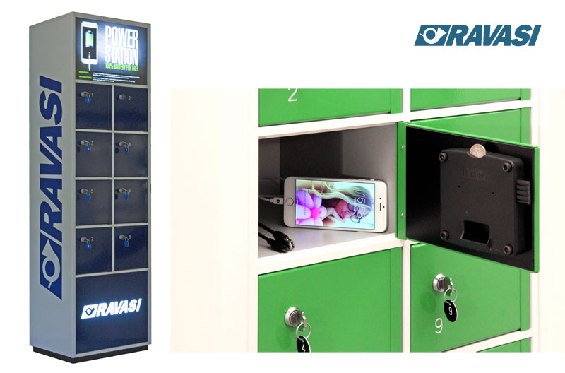 Armadietti caricabatterie per smartphone e tablet POWER STATION RAVASI
