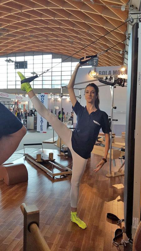 Attrezzo piltes per allenamento verticale