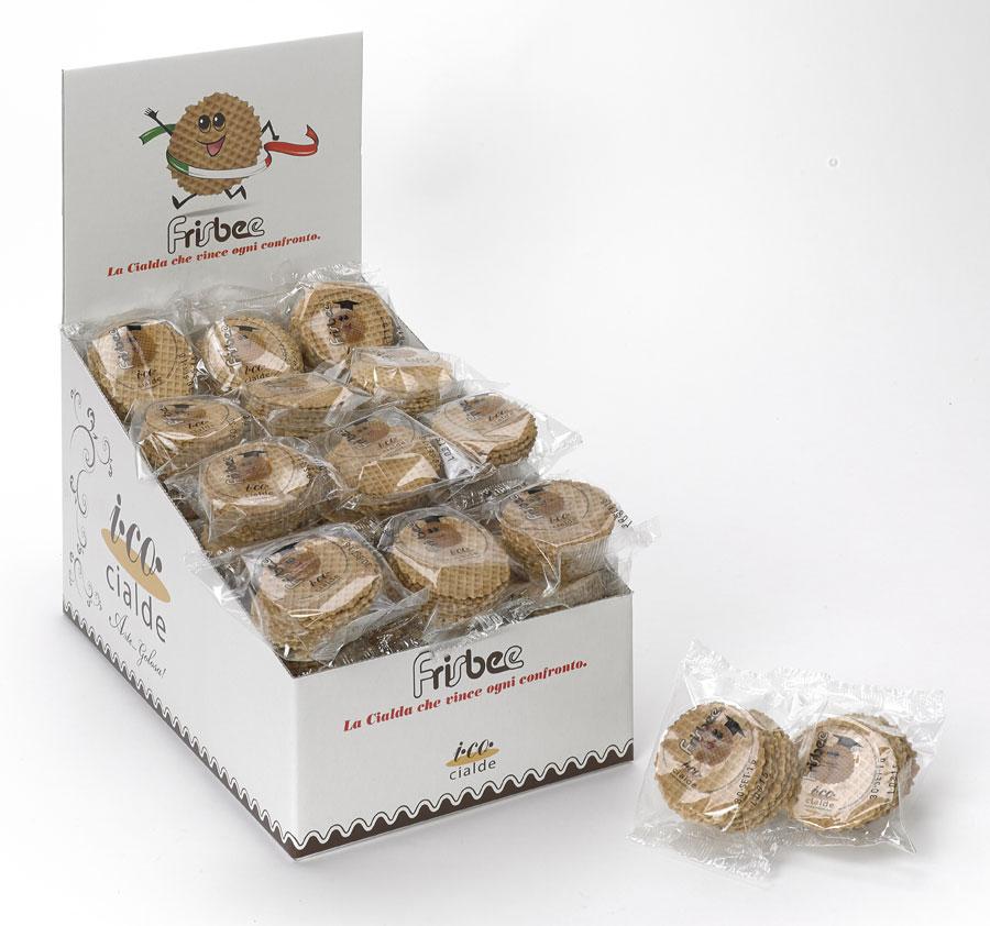 Cialda di cacao e nocciole per gelato artigianale FRISBEE® I.CO CIALDE