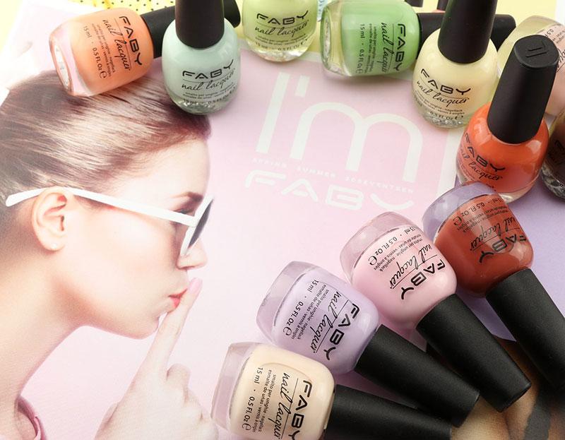 Smalti 250 colori moda professional wellness mani e piedi FABYLINE
