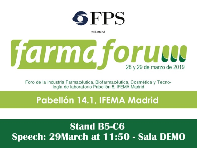 FPS al FARMAFORUM 2019 di Madrid