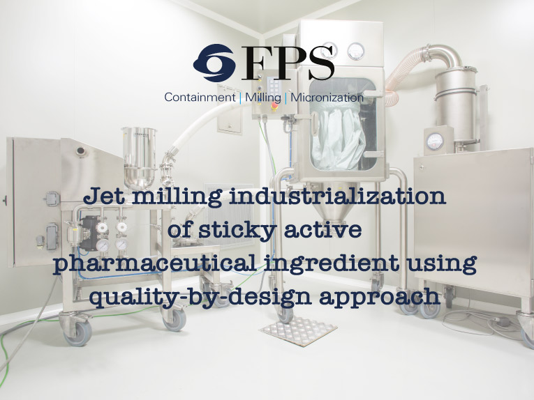 Industrializzazione del processo di micronizzazione a getti fluidi