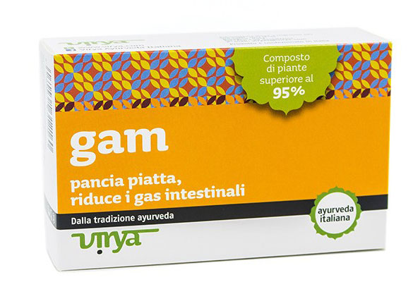 Gam elimina il gonfiore e riduce i gas intestinali