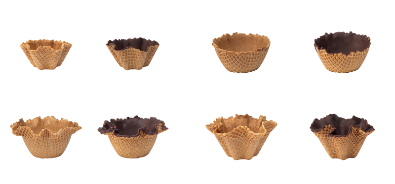 Conchiglie e Coppe in cialda per gelateria