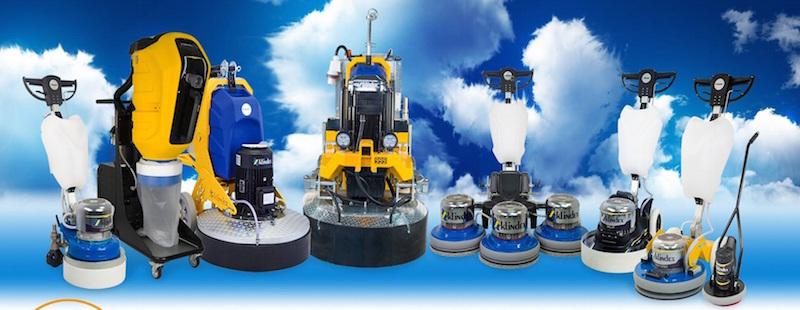 Levigatrici e lucidatrici per pavimenti Klindex, attrezzature professionali conosciute nel mondo