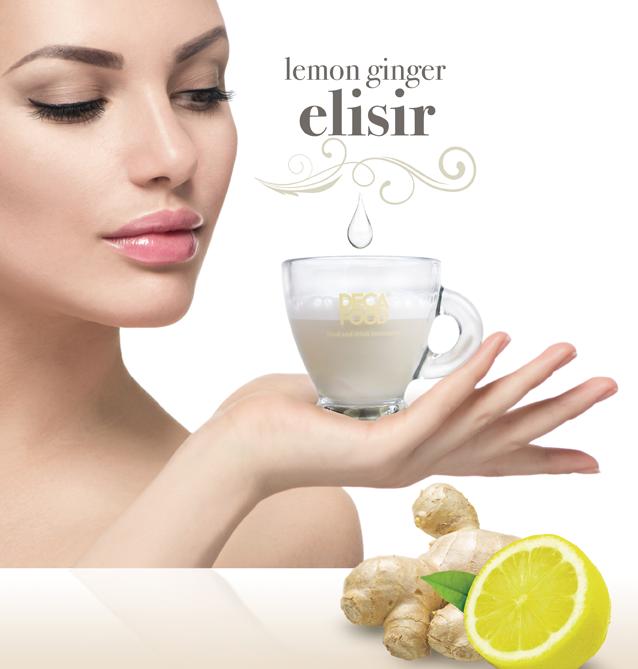 Tè al latte limone zenzero collagene LEMON GINGER ELISIR - DE.CA FOOD