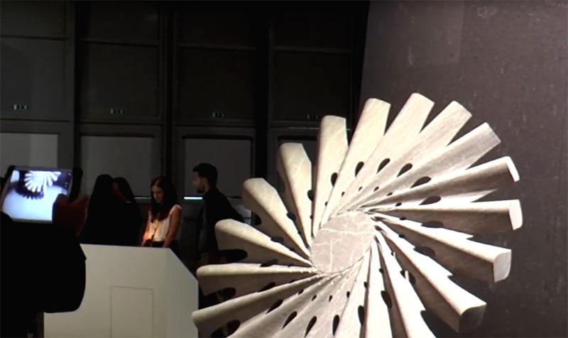 Espositore macchine e lavorazioni del marmo