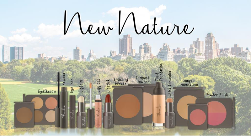 Linea make-up completa materie prime naturali NEW NATURE COSMETEC