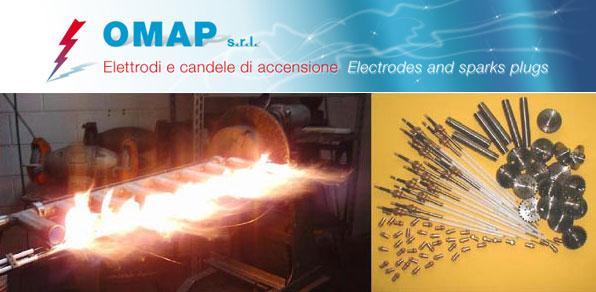 Teste di combustione ed elettrodi per l'industria ceramica - OMAP