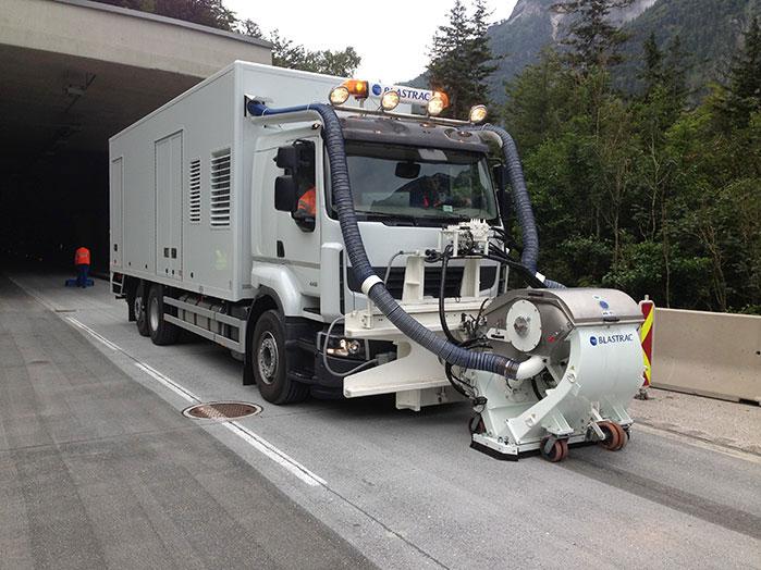 Pallinatura stradale con idrogetto
