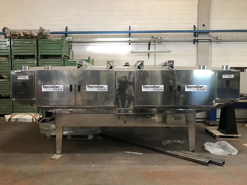 Produzione impianti per smaltatura pistrelle - Tecnocer