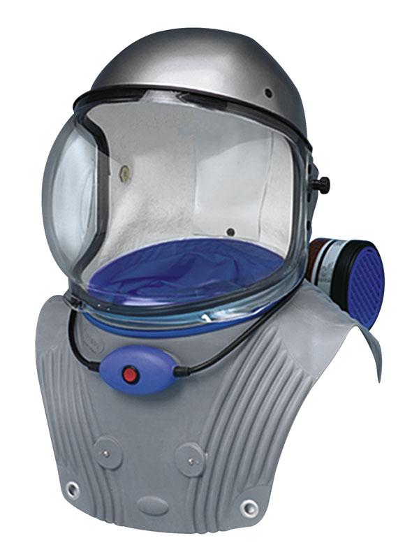 Il Casco protettivo con respiratore che poggia sulle spalle SPRING PROTEZIONE