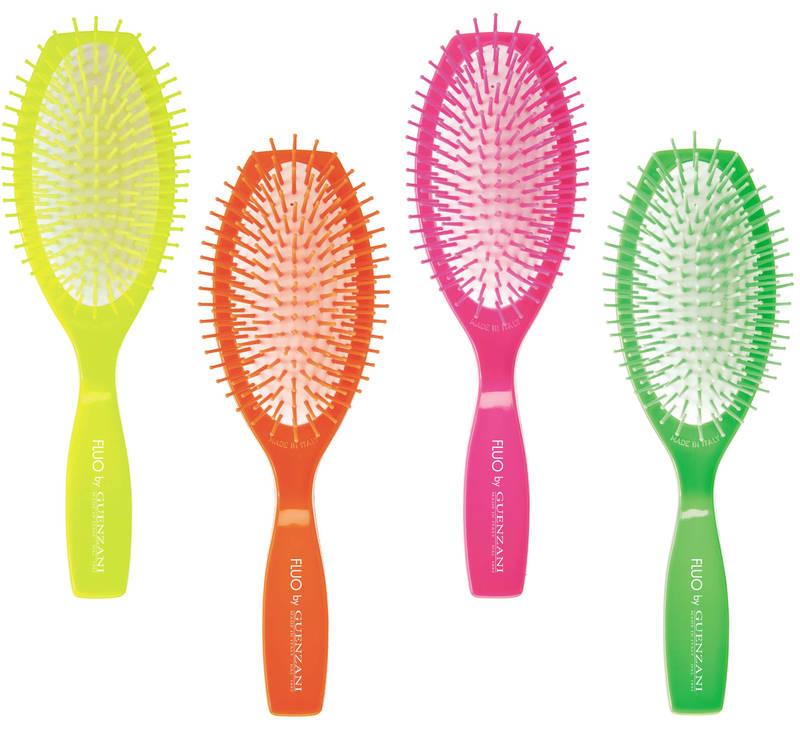 Pettini e spazzole professionali dai colori fluorescenti PETTINIFICIO GUENZANI