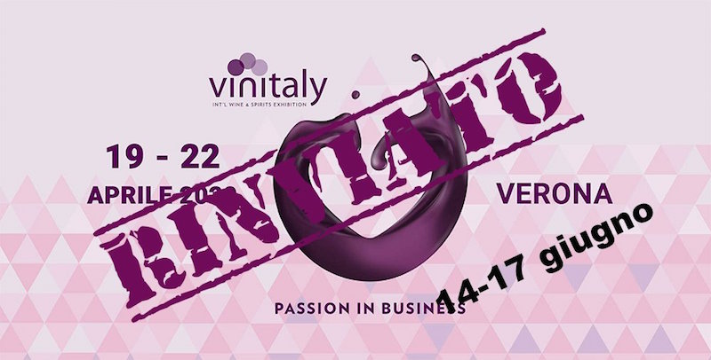 VINITALY, Veronafiere repositioning the date from 14 to 17 June 2020
