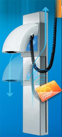 Sistema di asciugacapelli per centri sportivi