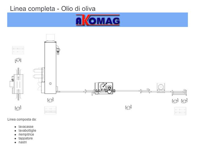 Linea completa per olio di oliva