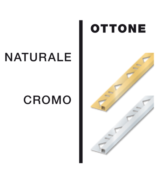 Profili colorati in ottone
