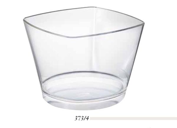 Spumantiera in plastica trasparente