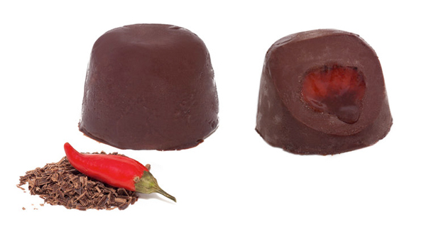 Spumone cioccolato e peperoncino