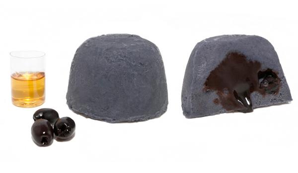 Spumone con olive cioccolato e rum