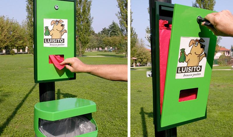 Distributore sacchetti per deiezioni canine Luisito Junior