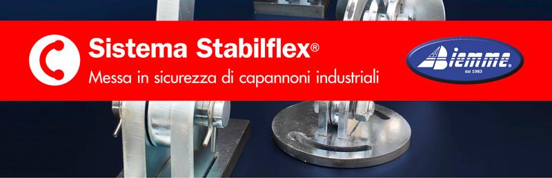 Sistema Stabilflex® per la messa in sicurezza dei capannoni industriali