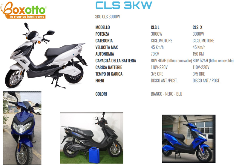 Scooter elettrico CJR CLS 3 KW