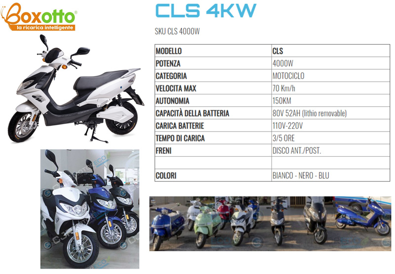 Scooter elettrico CJR CLS 4 KW