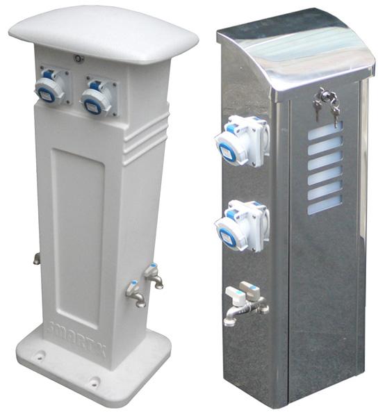 Colonnine per erogazione corrente camper wc wash by sela cars - Prese elettriche da esterno ...