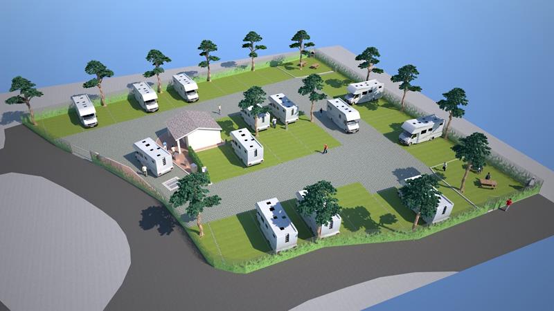 Progettazione aree sosta per camper