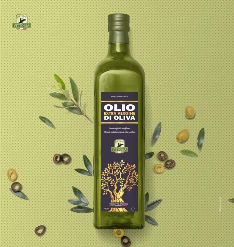 Olio extravergine di oliva di categoria superiore estratto a freddo