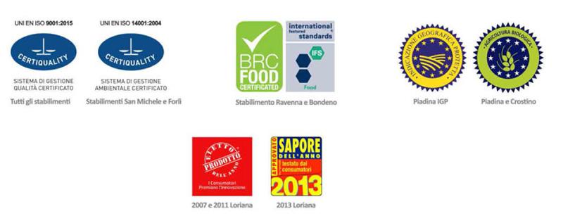 Certificazioni alimentare