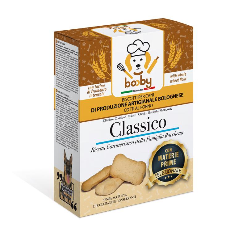 Biscotti per cani Booby di produzione artigianale bolognese