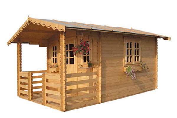 Casette in legno di abete per arredo giardino euroavi - Casette in legno per giardino ...