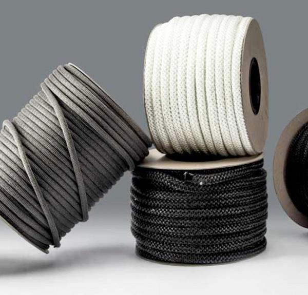 Trecce in fibra di vetro per stufe, forni e caldaie